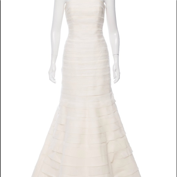 Vera Wang Dresses | Strapless Silk Organza Gown | Poshmark
